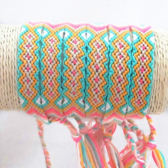 Retail Multicolor Rainbow Chunky Rope Braided Friendship Handmade