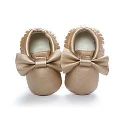 Обувь для маленьких девочек; Водонепроницаемая Обувь из искусственной кожи с кисточками; мокасины для новорожденных; Мягкие Мокасины для