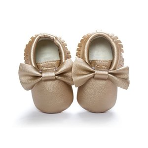Baby Girls Shoes Tassels PU Leather Waterproof Baby Shoes Newborn Moccasin Soft Infants Prewalker 18 colors(China)