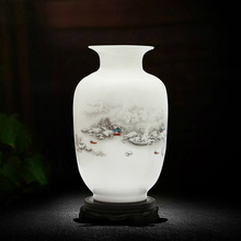 Jingdezhen Ceramic Vase Vintage Chinese Style large Flower arrangement container Tabletop tall vase Home Decoration crafts