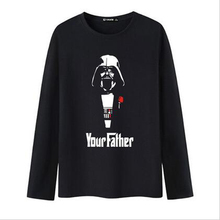 Fashion Star Wars Long Sleeve tshirt Men 2016 and Men t-shirt in Soft Cotton Tees and Tops for Men