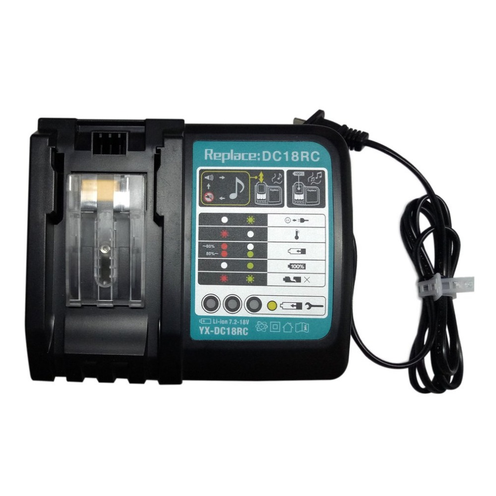 7.2V-18V 3A Li-ion Electric Power Tool Battery Charger Rapid Charging For Makita Battery BL1420 BL1815 BL1820 BL1830 BL1840