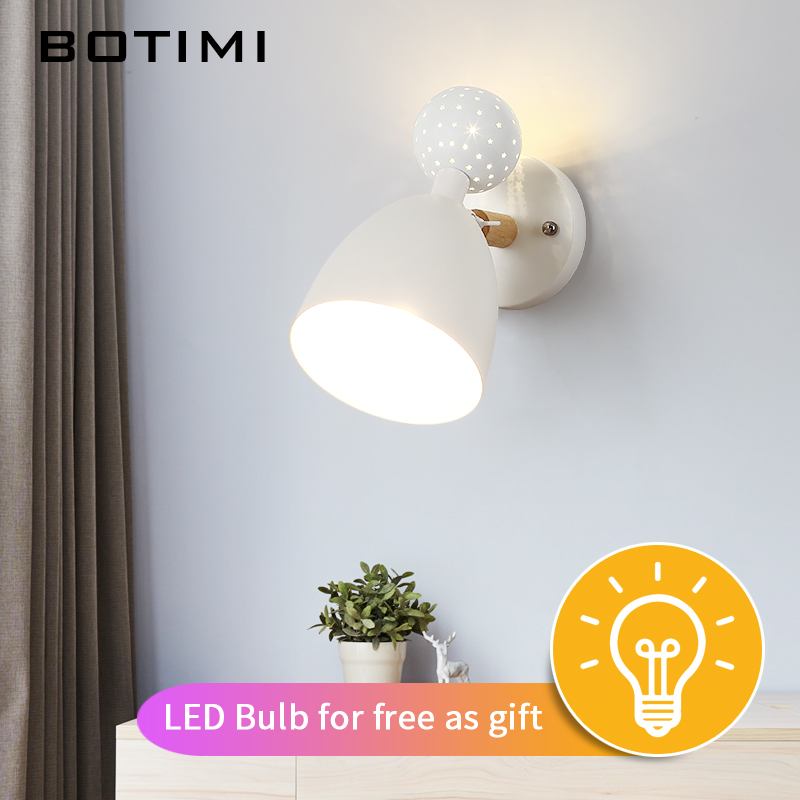 BOTIMI 220V LED Wall Lamp With Metal Lampshade For Living Room Up and Down Bedroom Wall Light Modern Wall Sconce Indoor LightingBOTIMI 220V LED Wall Lamp With Metal Lampshade For Living Room Up and Down Bedroom Wall Light Modern Wall Sconce Indoor Lighting