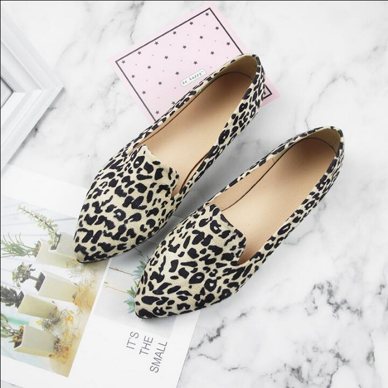 2019 New Spring Women Ins Shoes Summer Ballet Flats Shoes College Style Loafers Pointed Toe Casual Boat Shoes Plus Size 31-44