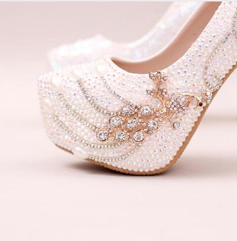 Mariée Phoenix Simples Pompes Asakuchi Diamant Fleur Talons De À Hauts  Chaussures 2018 14cm Robe Mariage ... 705e35a2f8a3