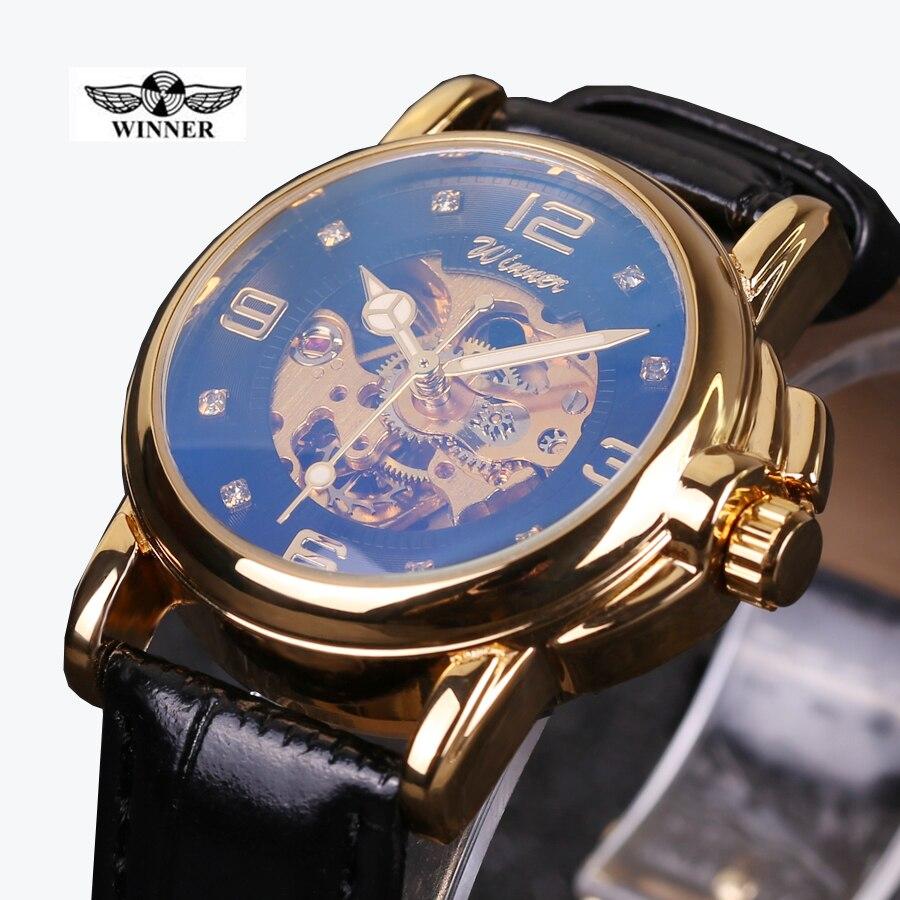 Winner Watch Women Newest Diamond Design Watches Lady Top Quality Watch Women Mechanical Watch Factory Shop Free Shipping