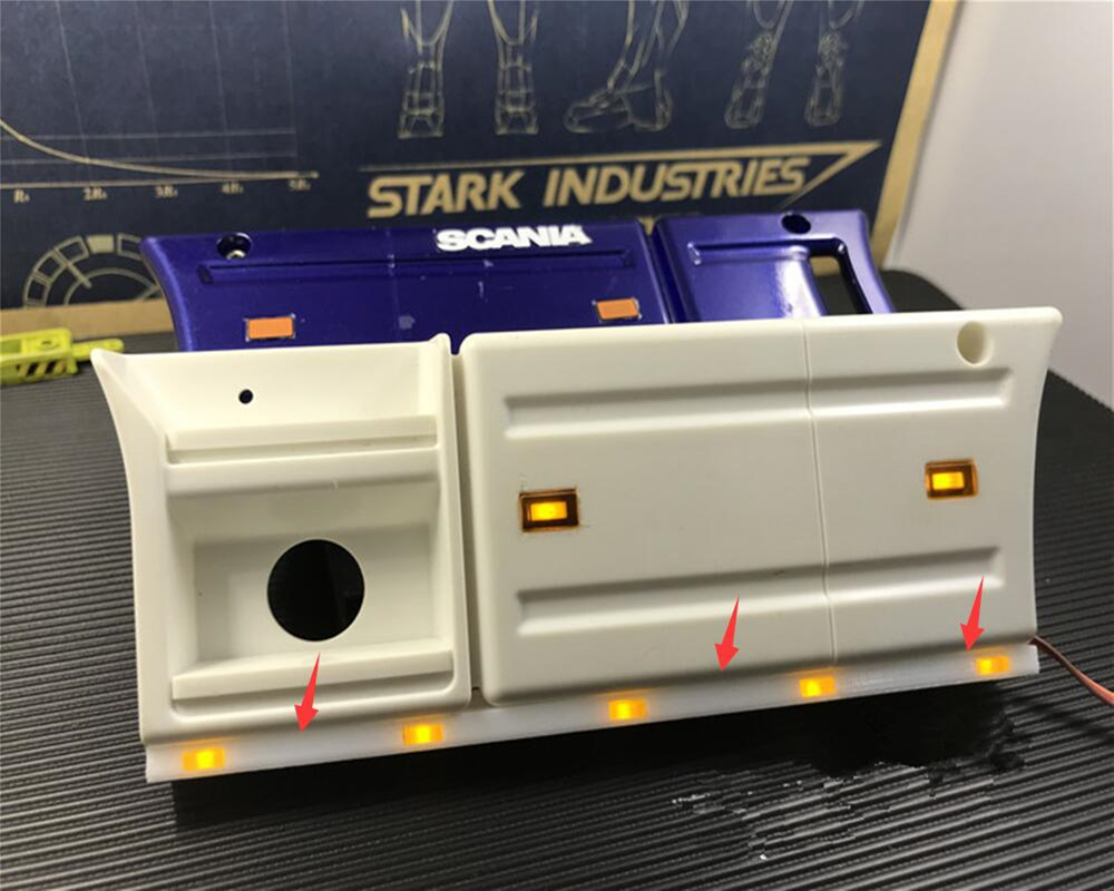 1:14 round side marker Light Stalks for Tamiya Trucks// Trailers Actros Scania