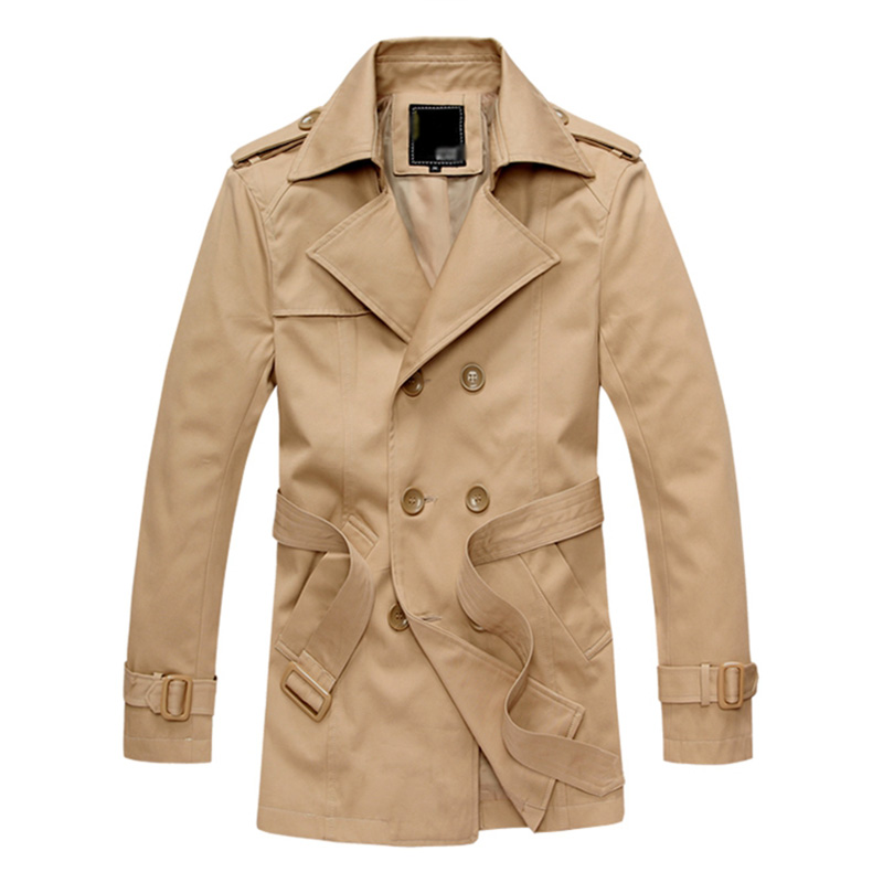 Aliexpress.com : Buy Men's Double Breasted Trench Coat With Belt ...