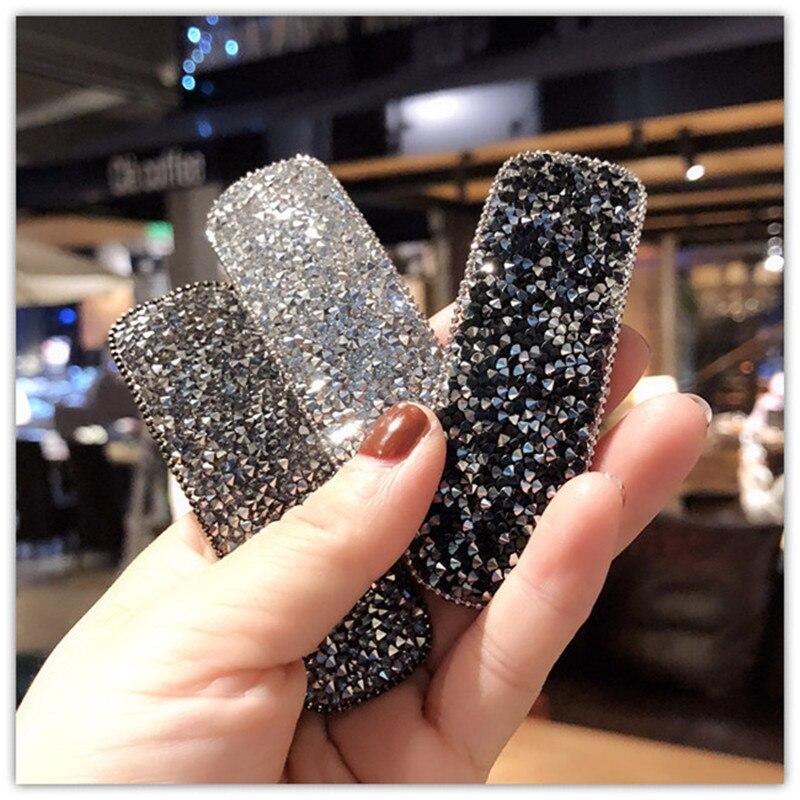Square Bling Crystal Hairpins   Headwear   for Women Girls Rhinestone Hair Clips Pins Barrette Accessories