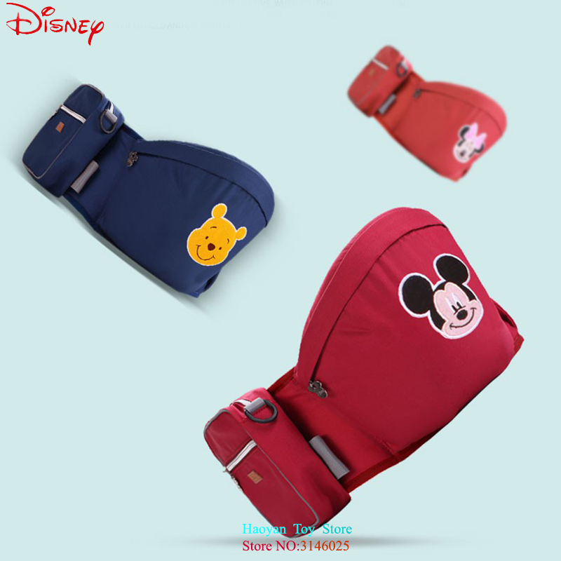 Disney Baby Safe Carrier Waist Stool Walkers Baby Sling Hold Waist Belt Backpack Hipseat Belt Kids Infant Hip Seat DSYYD0005 2018 new baby carrier 0 30 months breathable comfortable babies kids carrier infant backpack baby hip seat waist stool