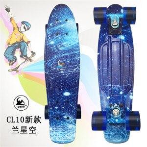 Image 5 - Mini planche à roulettes Cruiser lumière LED planche à roulettes à quatre roues adultes et enfants