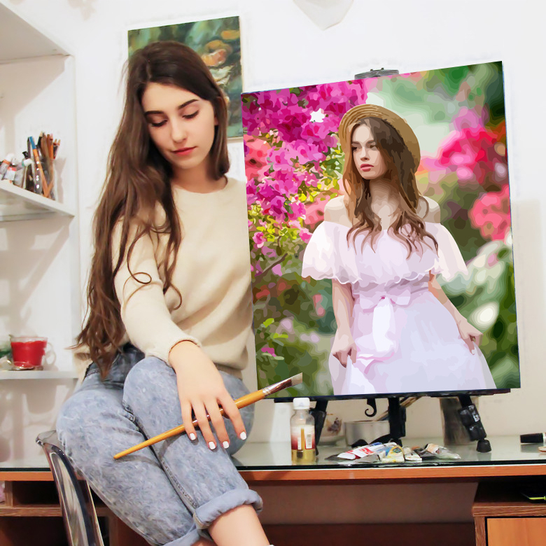 AZQSD Personality Photo Customized Painting By Number DIY Oil Paint Picture Drawing Canvas Coloring By Numbers Acrylic Gift