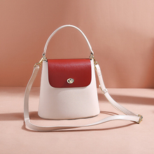 Small Bucket Should Bag Female Crossbody Bags For Women Split Leather Solid Color Luxury Handbags Women Bags Designer 2019 New все цены