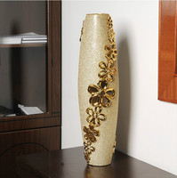 Large vases European style home decorations Ceramic ornaments crafts Floral material/60 cm high