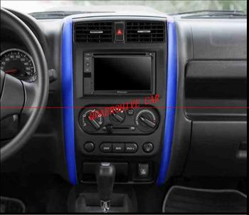 Car Interior Central Navigation GPS Dashboard Decoration Cover Trim Stickers for Suzuki Jimny 2007-2015 image