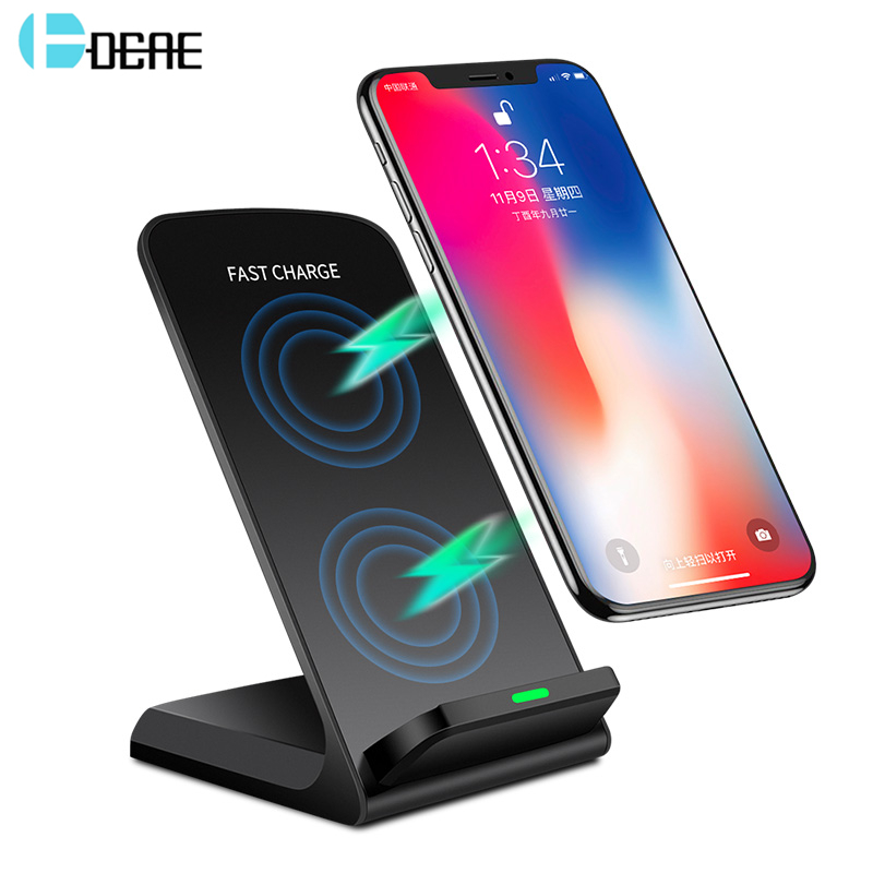 DCAE 10W Qi Wireless Charger For Samsung S9 S8 Plus Fast Charging Holder iPhone Xs Max X 8 Xiaomi mix 2s Phone
