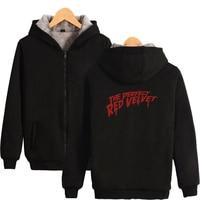 LUCKYFRIDAYF RED Velvet Print 2018 Hot Sale Long Sleeve Zipper Hoodies Sweatshirt Women Casual Harajuku Pop Clothes Size For 4XL