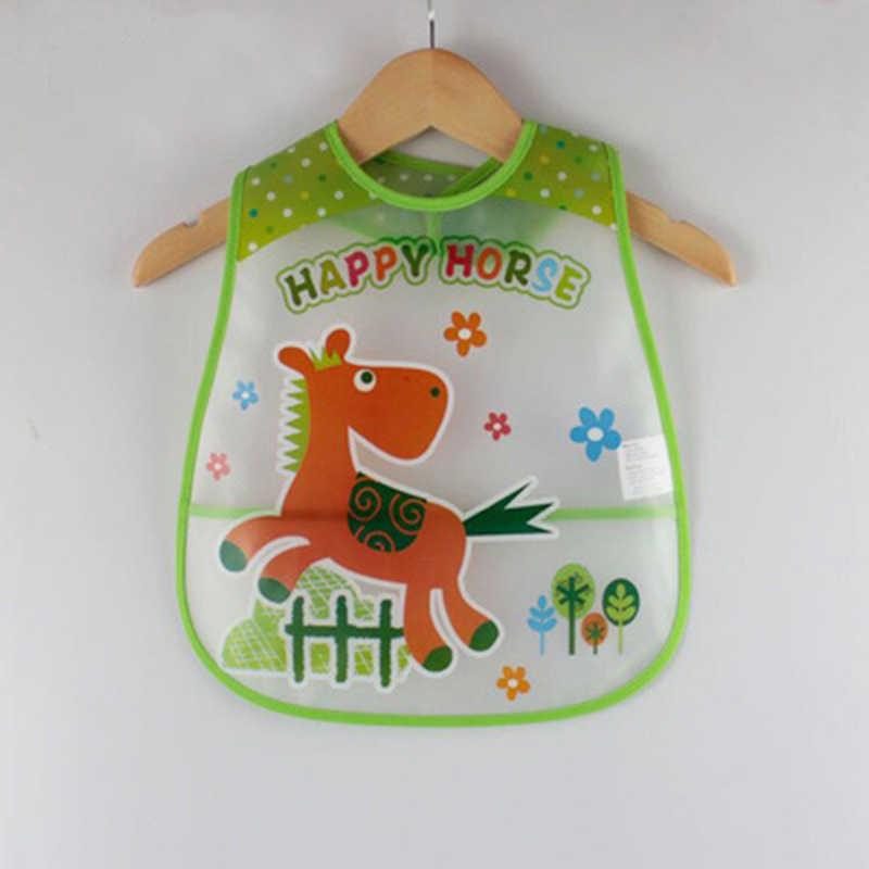 Baberos ajustables para bebés EVA Baberos impermeables para el almuerzo niños niñas bebés dibujos animados babero provecho paños para el cuidado de la autoalimentación de los niños