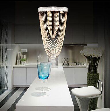 LED Chandeliers/Flush Mount K9 Crystal Modern/Contemporary Living Room/Bedroom/Study Room/Office/Hallway Metal
