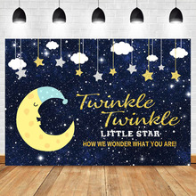 NeoBack Baby Shower Photography Backdrops Twinkle Little Star Watercolor Sky Photo Studio Background Newborn Photocall