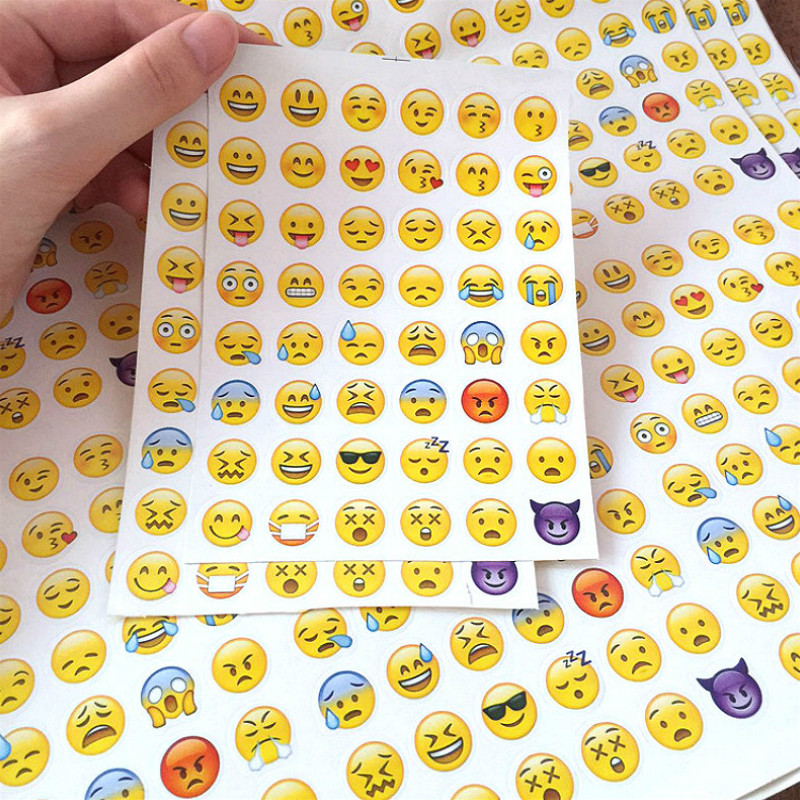 LOLEDE 1Sheet/Sell Emoji Smile Face Diary Stickers Posted It Kawaii Planner Memo