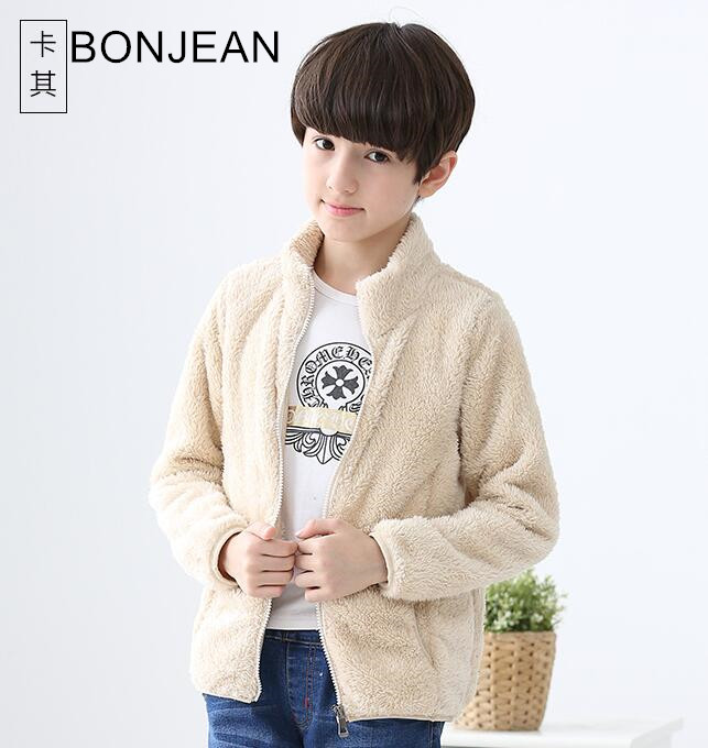 Children s autumn jacket 2019 new thick coat boys and girls plus velvet COAT big boy