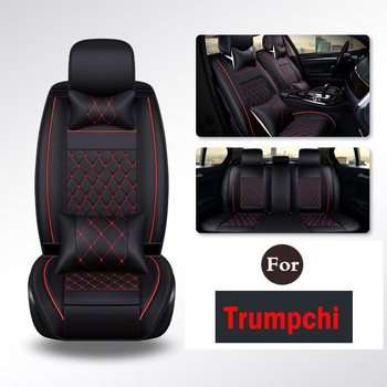 Car accessory PU Leather Universal Car Seat Covers Full Set with Cushions Compatible-Fit for Trumpchi Ga3 Ga5 Gs5 Gs4 Ga6