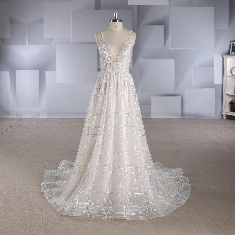 Greek Style Boho Bohemian Wedding Dresses Spaghetti Straps: 2018 Bohemian Style V Neck Spaghetti Strap Wedding Dresses