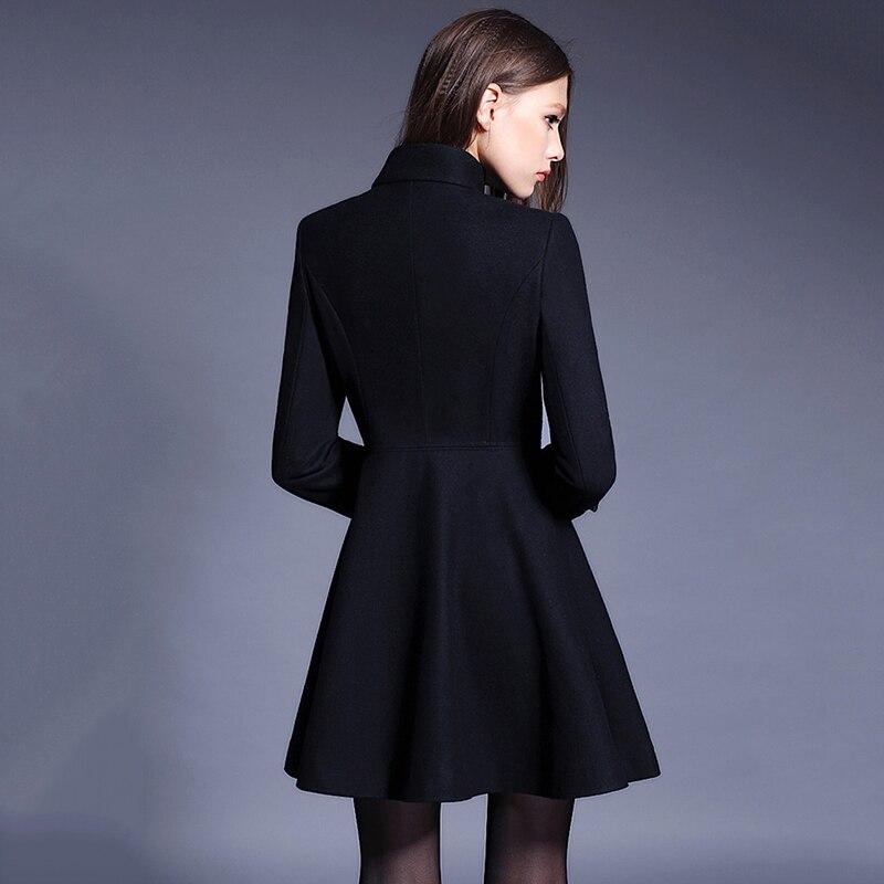 Féminine Laine Femmes Pur Cachemire 2018 Black Survêtement Élégant Breasted La caramel Double Colour Mode Mince Veste Nouveau Manteau De Col Stand red Plus Taille 6dZ8dwx