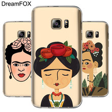 ФОТО l050 frida kahlo soft tpu silicone case cover for samsung galaxy note 3 4 5 s5 s6 s7 edge s8 plus grand prime