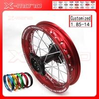 14 Dirt Pit Bike Rear Wheels 1.85x14 inch For KAYO BSE Apollo Xmotos CRF50 CRF70 KLX110 TTR110 125 140 160cc MX Spare Parts