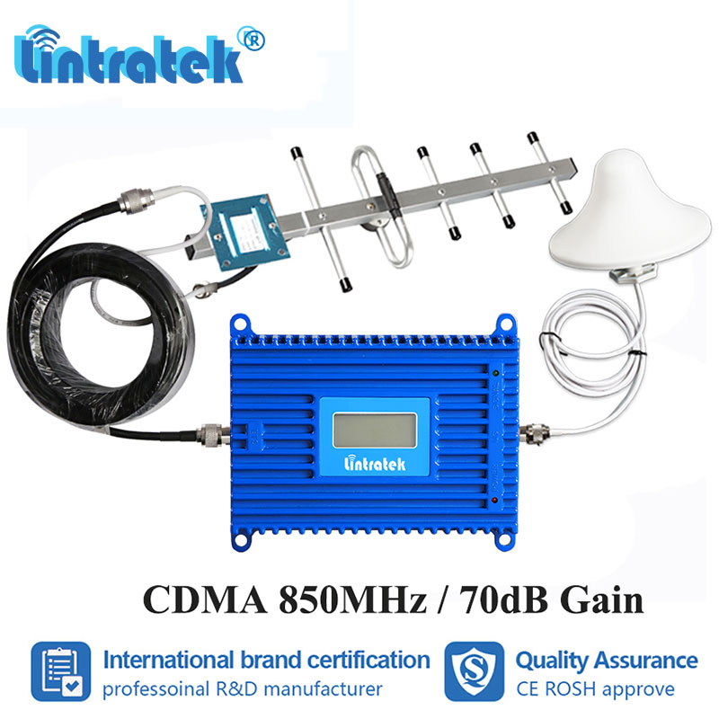 Lintratek GSM 850mhz 70dB High Gain Cell Phone Signal Booster CDMA 850 LCD Display Cellular Repeater B5 Amplifier Repetidor S7+2Lintratek GSM 850mhz 70dB High Gain Cell Phone Signal Booster CDMA 850 LCD Display Cellular Repeater B5 Amplifier Repetidor S7+2