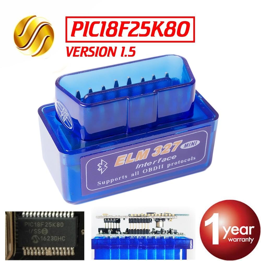 Viecar V1.5 Super MINI ELM327 Bluetooth ULME 327 PIC18F25K80 Version 1.5 OBD2/OBDII für Android Torque Auto Code Scanner