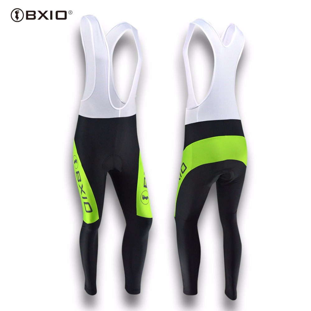 BXIO Winter Bike Long Bib Pant Seamless Stitching Cycling Clothing 5D Pad Pro Team Bicycle Trousers Invierno Ropa Ciclismo 132-P