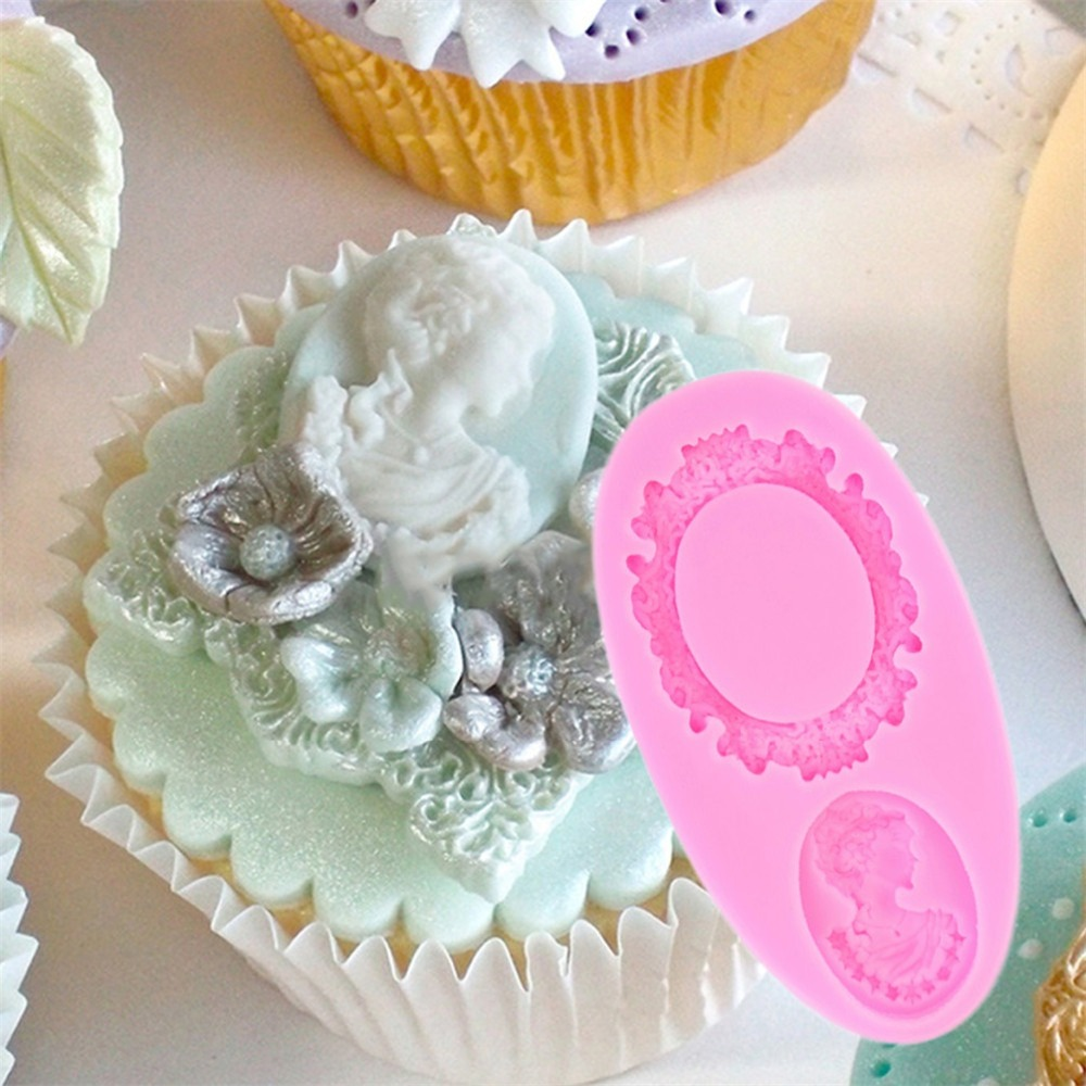 Wedding Cake Decoration Molds : Mirror Frame Fondant Wedding Cake Decorating Tools Cupcake ...