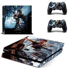 Uncharted Skin Ps4 console Cover For Playstaion 4 Console PS4 Skin Stickers+2Pcs Controller huid Protective Skins