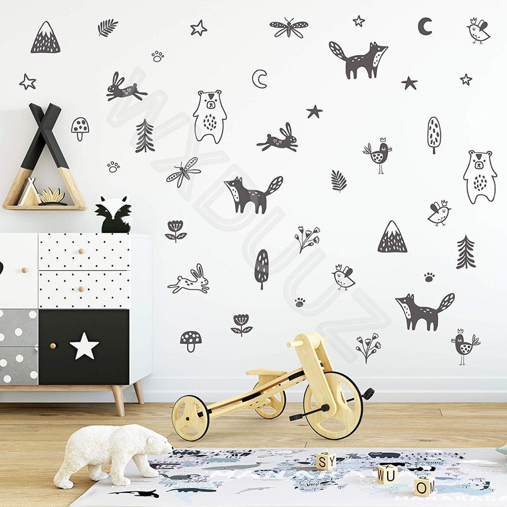 Kids Bedroom Bathroom Flower Shaped Plane Wall Stickers ILOE