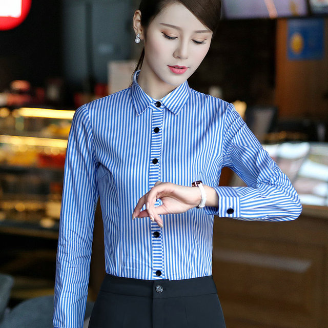 31349739 Chiffon Shirt Zebra Pattern Striped Blouse Formal Women Work wear Summer  half Sleeve Turn-Down Slim office female Tops
