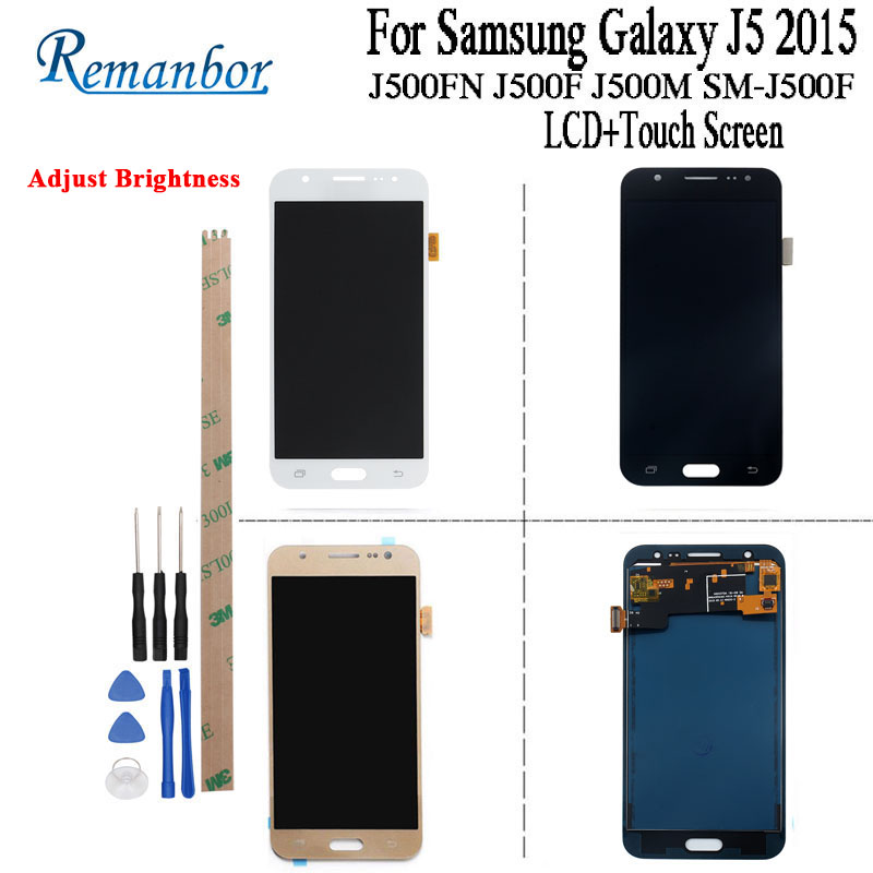 Remanbor LCD For Samsung Galaxy J5 2015 J500 LCD Display Touch Screen For Samsung J500FN J500F J500M SM-J500F +Tools +AdhesiveRemanbor LCD For Samsung Galaxy J5 2015 J500 LCD Display Touch Screen For Samsung J500FN J500F J500M SM-J500F +Tools +Adhesive
