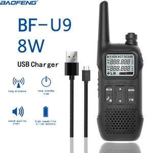 Image 5 - 2 sztuk Baofeng BF U9 8W mini walkie talkie usb szybki ładunek 8W UHF 400 470MHz Ham CB przenośny zestaw radiowy uv 5r Woki Toki