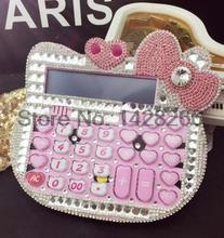 2016 New 12 digit pink cute hello kitty calculator wholesale 17 18CM calculator no voice cute
