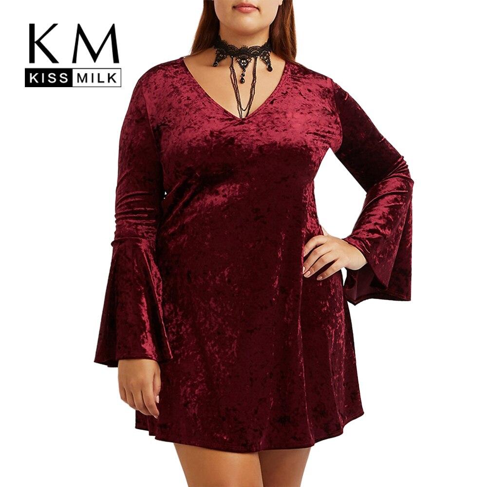 Aliexpress Com Buy Elegant Flare Sleeve Wedding Dress: Kissmilk Plus Size New Fashion Women Clothing Elegant