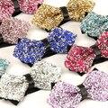 2016 Nuevos Especiales de Noche de la mariposa de estilo británico pajarita hombre de diamante de oro lazo de los hombres corbata de lazo tamaño 12 cm y 6 cm