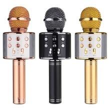 WS 858 Bluetooth Dây Không Dây Karaoke Cầm Tay Microphone USB KTV Player Bluetooth Mic Loa Kỷ Lục Âm Nhạc