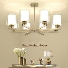 Новая Люстра серебрясветодио дный светодиодная гостиная люстра потолочный светильник простой Ресторан спальня люстра Домашнее освещение лампы