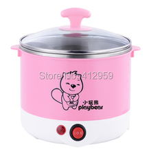 Multifunctional electric cooker electric kettle Hot pot mini electric cooking pot pot students 600W power 1.5L