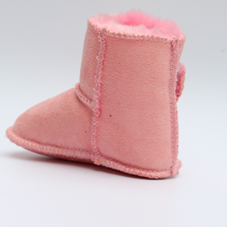 2016 Winter baby boy fur snow boots for girl Newborn warm shoes infant toddler soft sole First Walkers booties
