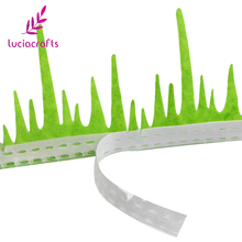 Lucia crafts 2y/lot Grass Flower Style Lace Ribbons Handmade Lace Trim Garment Sewing DIY Material Party Accessories 040051063