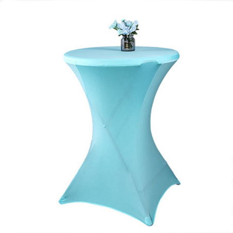 2Pcs/Lot Bar Cocktail Table Cover Round Tablecloth Spandex Stretch Table Cloth Hotel Wedding Party Event Decor Candy Color2Pcs/Lot Bar Cocktail Table Cover Round Tablecloth Spandex Stretch Table Cloth Hotel Wedding Party Event Decor Candy Color