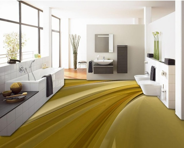 Creative 3d Floor Print Ideas Flowing Liquid Self Adhesive Waterproof  Wallpaper Custom 3d Floor Art Plastic